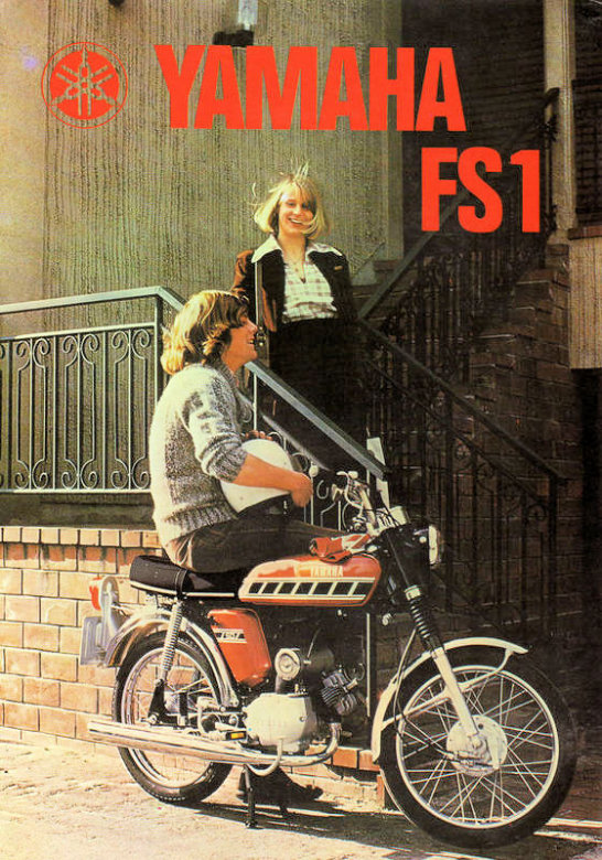 1976 77 YAMAHA FS1 E BAJA BROWN SPEEDBLOCK 394   BROCHURE